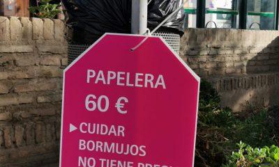 AionSur: Noticias de Sevilla, sus Comarcas y Andalucía ETIQUETA-PAPELERA-min-400x240 Bormujos etiqueta su mobiliario urbano para crear conciencia sobre el gasto que supone el vandalismo Bormujos destacado