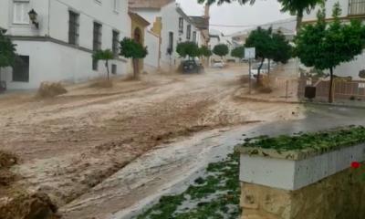 AionSur Lluvia-Estepa-400x240 Una tromba de agua provoca inundaciones en pueblos de la Sierra Sur sevillana Sevilla Sucesos