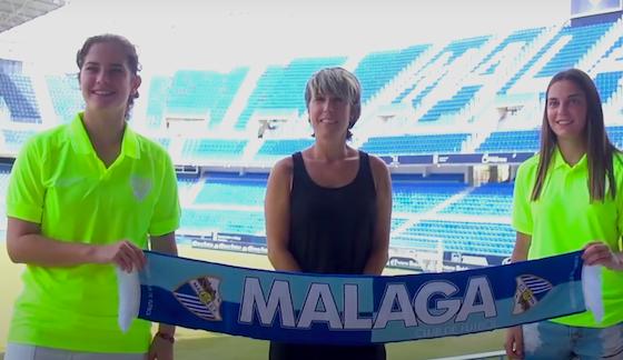 AionSur Malaga-jugadoras-560x324 La paradeña María Cortés y la constantinense Candela Blanco, nuevas jugadoras del Málaga Deportes Fútbol