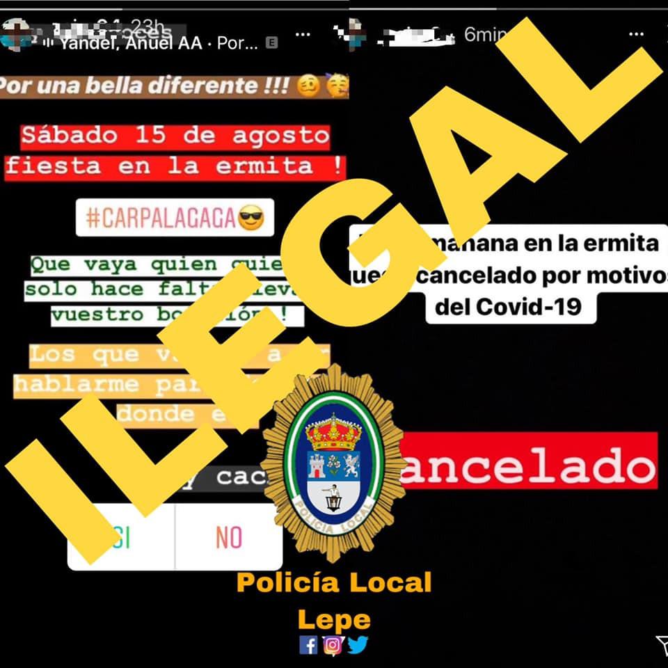 "AionSur botellon Denunciado un menor en Lepe que organizó un botellón como ""alternativa"" a las fiestas patronales Coronavirus Huelva"