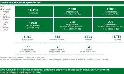 AionSur estadisticas-min-400x240 Últimos datos de casos confirmados de Covid-19 registrados en Andalucía Andalucía