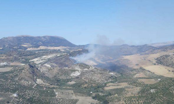 AionSur pruna-590x354 Arde un paraje de gran valor natural en Pruna Incendios Forestales Pruna Sucesos destacado