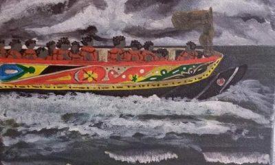 AionSur senegal-cuadros-1-400x240 Una exposición muestra los cuadros que un senegalés salvó en el incendio de su chabola Cultura Huelva