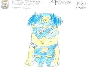 AionSur superheroe-coripe-3-300x235 La imaginación de los niños de Coripe le pone caras a la lucha contra la pandemia Coripe Coronavirus