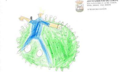 AionSur superheroe-iker-400x240 La imaginación de los niños de Coripe le pone caras a la lucha contra la pandemia Coripe Coronavirus
