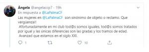 """AionSur tuit-la-palma-300x105 Una campaña de un equipo de fútbol distingue entre """"adultos"""" y """"mujeres"""" y rebaja el carné 55 euros para ellas Deportes Huelva destacado"""