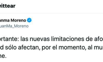 AionSur Juanma-Twitter-400x240 La Junta rectifica y aclara que las medidas restrictivas solo son para Casariche Coronavirus destacado
