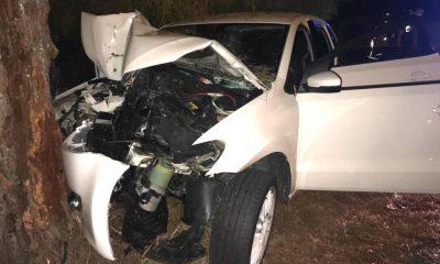 AionSur accidente-Huelva-400x240 Cuatro heridos tras salirse de la carretera y empotrarse contra un árbol Sucesos