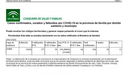 AionSur covid-400x240 La curva de la COVID en Arahal sigue subiendo, con 190 casos ya confirmados Coronavirus destacado