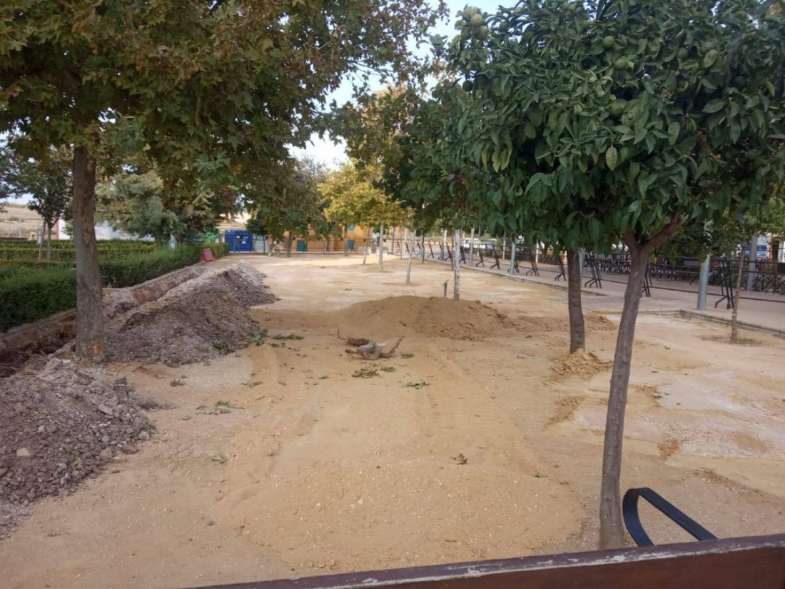 AionSur herrera-obras En marcha las obras para cambiar toda la Plaza Alcalde Manuel Vázquez de Herrera Herrera