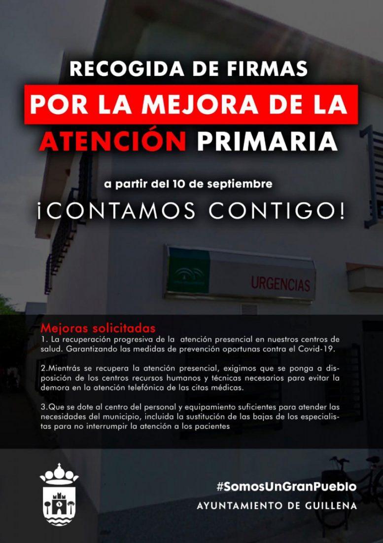 AionSur recogida-firmas-por-la-mejora-atencion-sanitaria-1-min Recogida de firmas en diez municipios de Sevilla y Huelva para reclamar mejoras en Atención Primaria Guillena