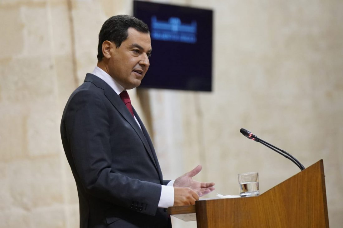 AionSur Juanma-Moreno El presidente de la Junta abre la puerta al toque de queda en Andalucía Coronavirus