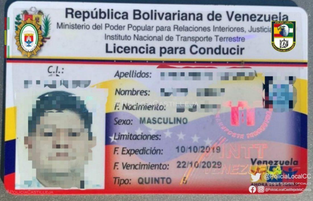 AionSur: Noticias de Sevilla, sus Comarcas y Andalucía Venezuela-permiso El ojo clínico de la Policía de Castilleja que evita falsificaciones Castilleja de la Cuesta