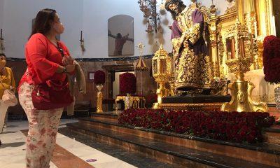 AionSur gran-poder-cristo-2-400x240 Cientos de personas acuden a ver al Gran Poder al culto en su basílica Sociedad destacado
