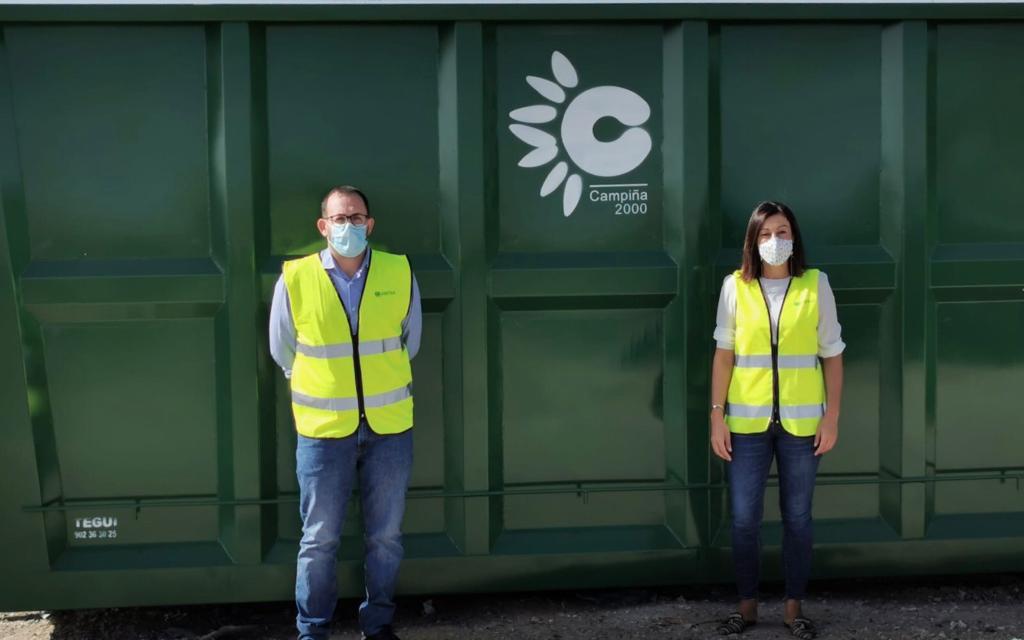 AionSur mancomunidad-2-min La Mancomunidad Campiña 2000 recibe trece nuevas cubas para los Puntos Limpios de sus pueblos Medio Ambiente