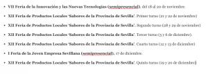 AionSur Ferias-calendario-300x107 La Diputación de Sevilla recupera sus ferias de muestras con todas las garantías sanitarias Prodetur