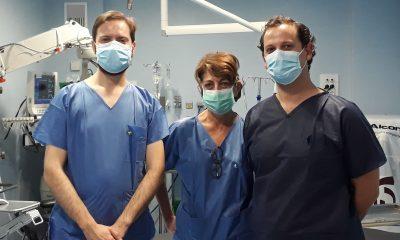 AionSur oftalmologos-min-400x240 Valme incorpora un novedoso avance en el trasplante de córnea Salud destacado
