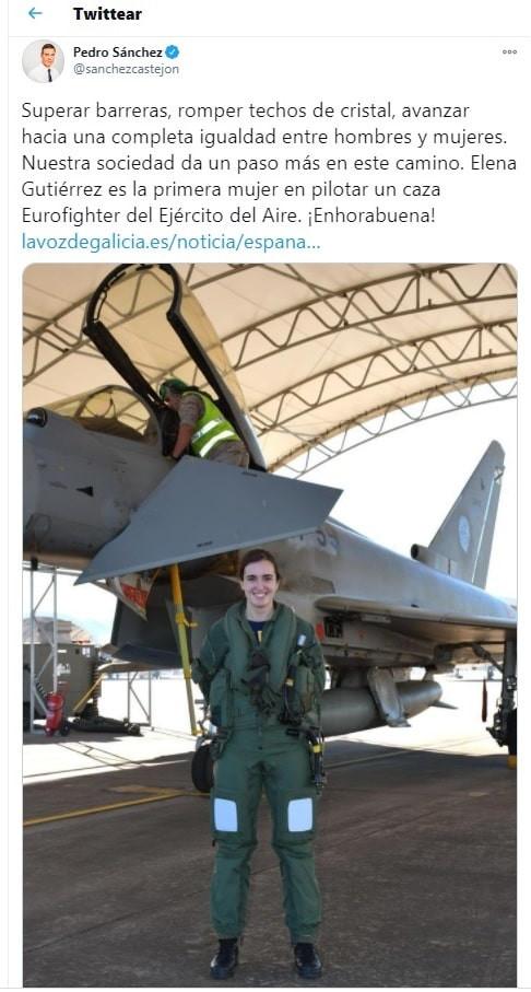 AionSur pedro-sanchez-min La Base de Morón, escenario de la prueba de vuelo de la primera mujer piloto de Eurofighter de España Sociedad destacado
