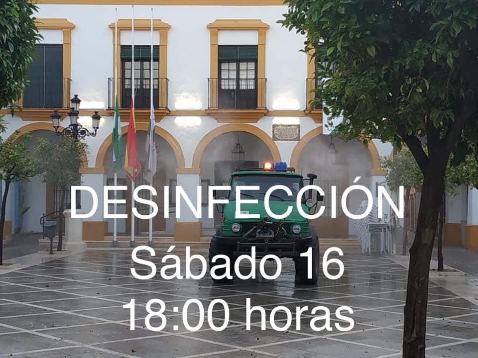AionSur 137507925_2773721206177832_2517099557937722029_n-min-1 Nueva desinfección de calles en La Puebla, municipio de la comarca con la tasa más alta de contagios La Puebla de Cazalla destacado