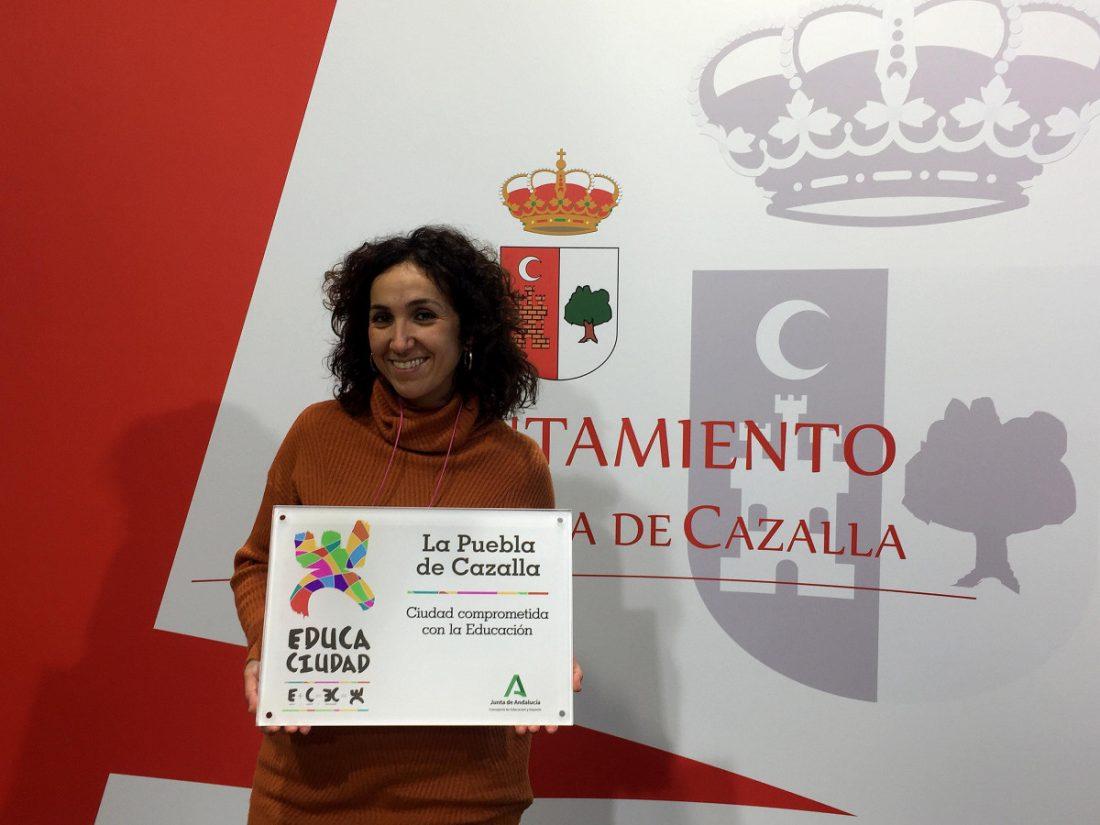 AionSur Lucia-Munoz-min La Puebla de Cazalla revalida el premio Educaciudad La Puebla de Cazalla