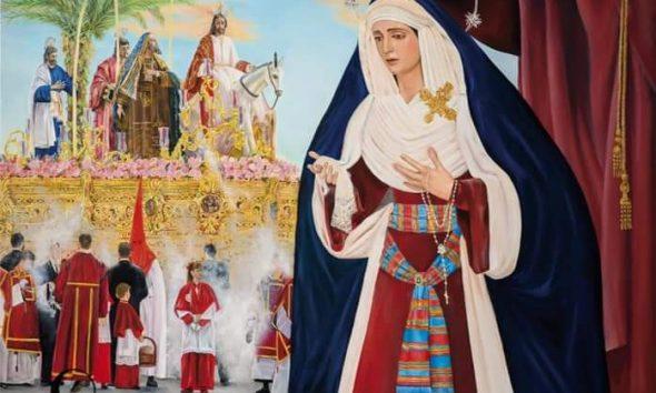 La Hermandad de la Borriquita ilustra el cartel de la Semana Santa de Alcalá 2021