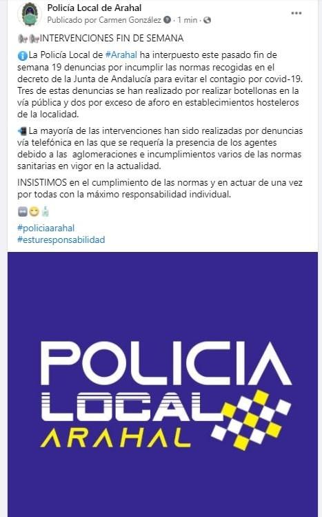 AionSur: Noticias de Sevilla, sus Comarcas y Andalucía policia-min Arahal roza la tasa de 500 contagios por cada cien habitantes, cerca ya del levantamiento del cierre perimetral Arahal destacado