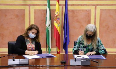 AionSur: Noticias de Sevilla, sus Comarcas y Andalucía 210301_Convenio-Cultura-firma-min-400x240 Desarrollo Sostenible y Cultura colaboran para poner en valor el patrimonio cultural y natural del medio rural andaluz Andalucía