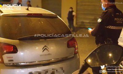 AionSur: Noticias de Sevilla, sus Comarcas y Andalucía Poli-Castilleja-400x240 Sin seguro, sin carnet, sin ITV y positivo en cocaína Castilleja de la Cuesta