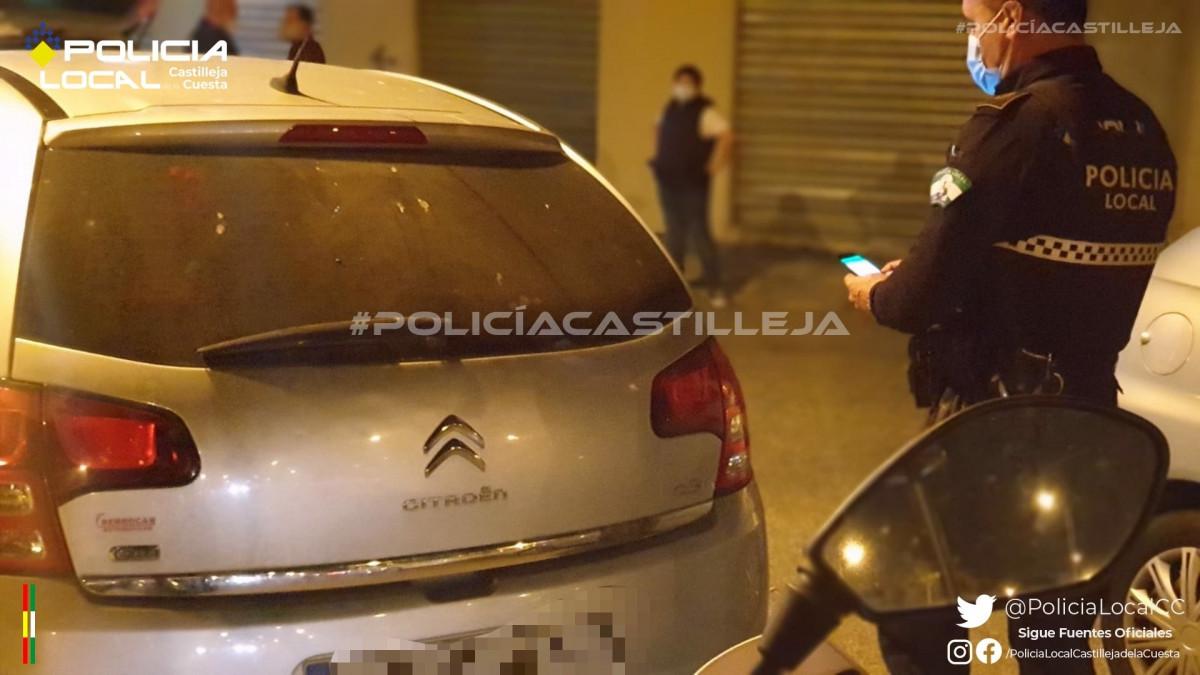 AionSur: Noticias de Sevilla, sus Comarcas y Andalucía Poli-Castilleja Sin seguro, sin carnet, sin ITV y positivo en cocaína Castilleja de la Cuesta