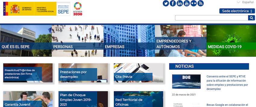 AionSur: Noticias de Sevilla, sus Comarcas y Andalucía SEPE-web El ataque a la web del SEPE provoca que unas 150.000 personas no cobren paro o ayudas Sociedad