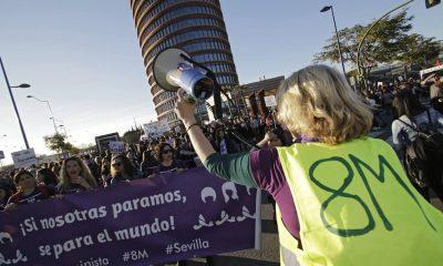 AionSur: Noticias de Sevilla, sus Comarcas y Andalucía feminista-400x240 Más de una docena de actividades feministas convocadas en Sevilla por el 8M Sociedad