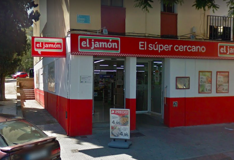 AionSur: Noticias de Sevilla, sus Comarcas y Andalucía supermercado-jamon Roban en un supermercado de Huelva tras aturdir a la cajera con un spray tóxico Sucesos