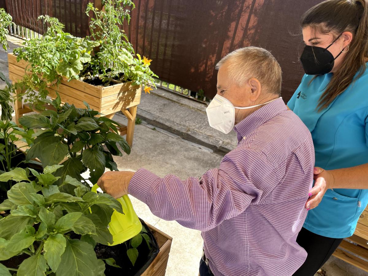 Un huerto ecológico convertido en terapia