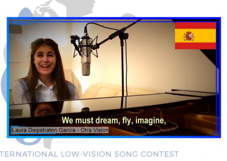 Una joven andaluza de 14 años gana el primer festival de Eurovisión para artistas ciegos