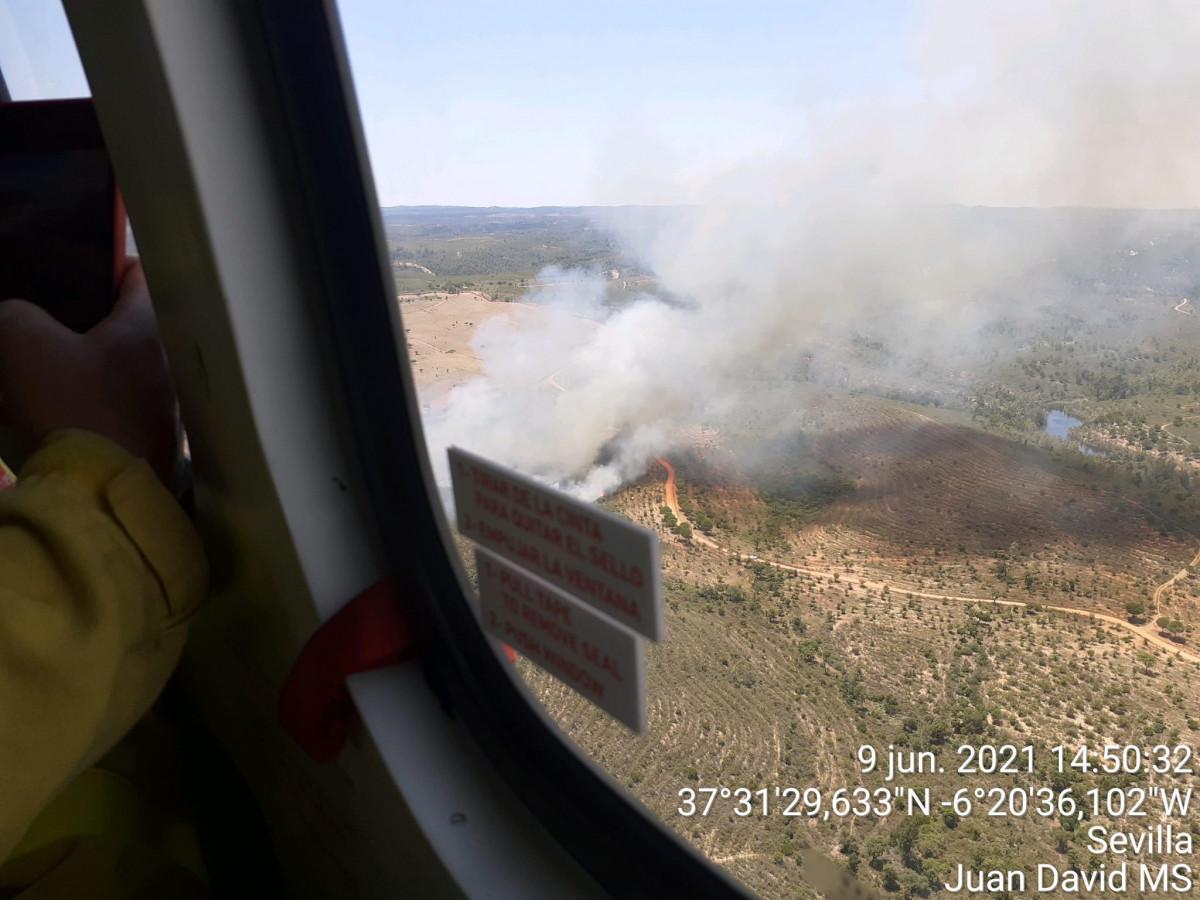 Estabilizado el incendio de Aznalcóllar